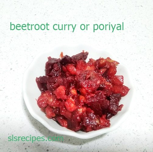 Beetroot poriyal, how to make beetroot poriyal for rice chapathi